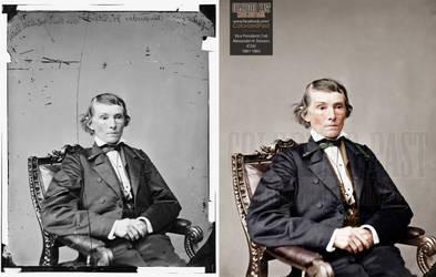 Vice President Alexander Hamilton Stevens (CSA) by ColorizedPast