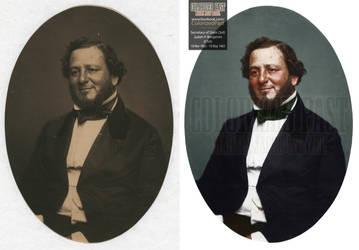 Secretary of State Judah Philip Benjamin (CSA) by ColorizedPast