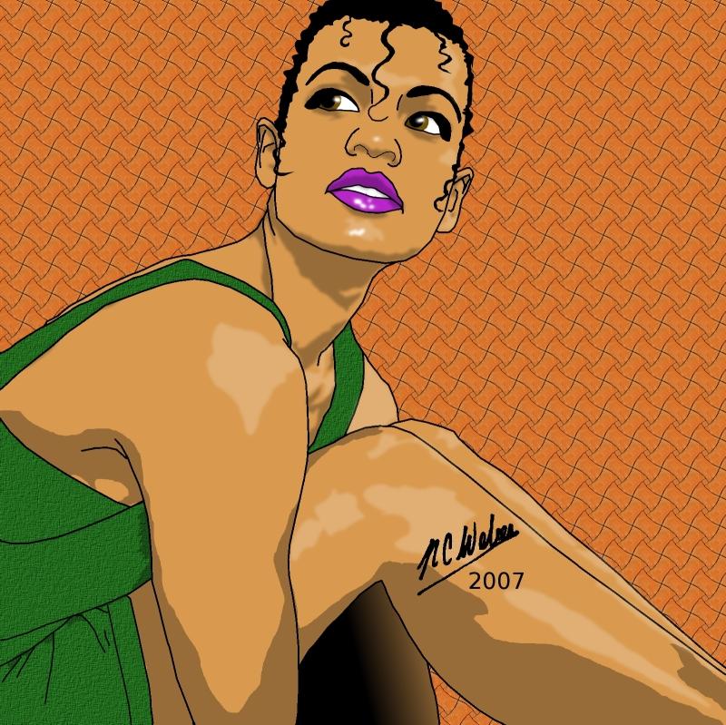 Trisha Drawn in GIMP Alt 2 by NCWeber