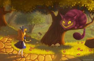 The Cheshire Cat by AlyssaTallent