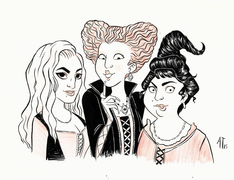 inktober 2015 sanderson sisters by alyssatallent