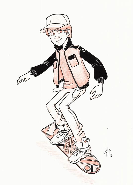 Marty McFly - INKtober by AlyssaTallent