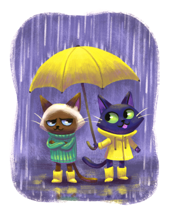 Umbrella Cats by AlyssaTallent
