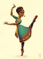 Indian Dancer - Character Design Challenge by AlyssaTallent