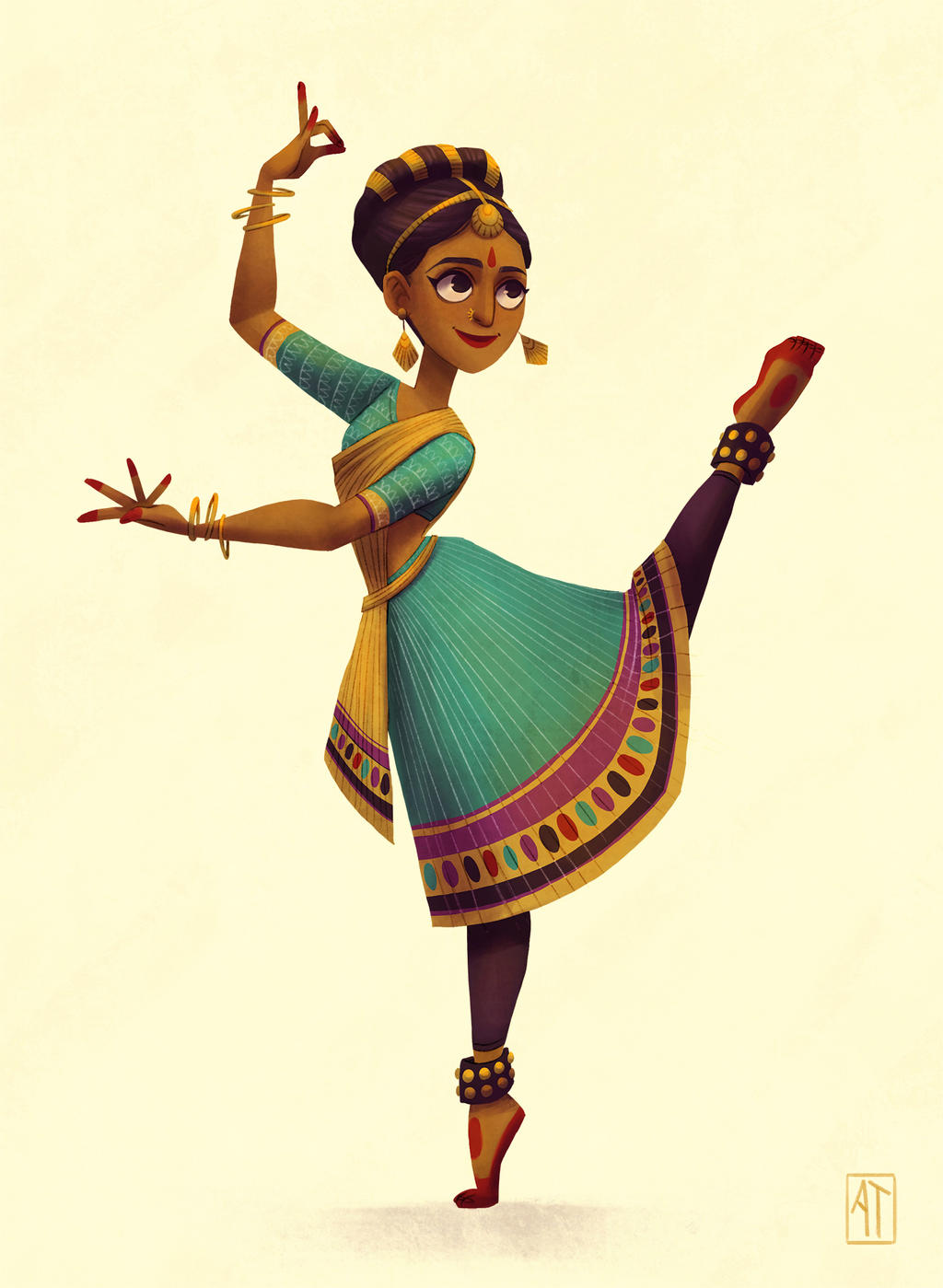 Character Design Challenge Deviantart : Indian dancer character design challenge by