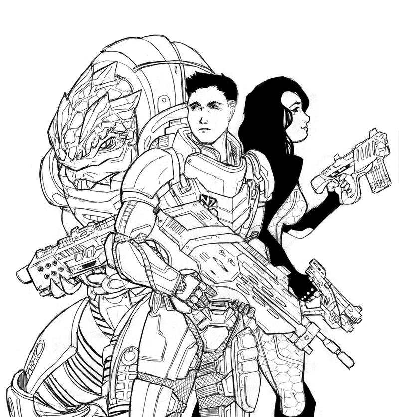 Mass Effect 4 Coloring Pages Coloring Pages