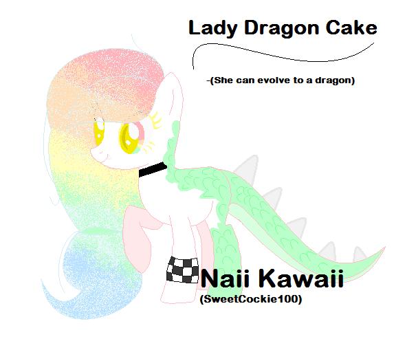 [MLP OC] Lady Dragon Cake by SweetCockie100