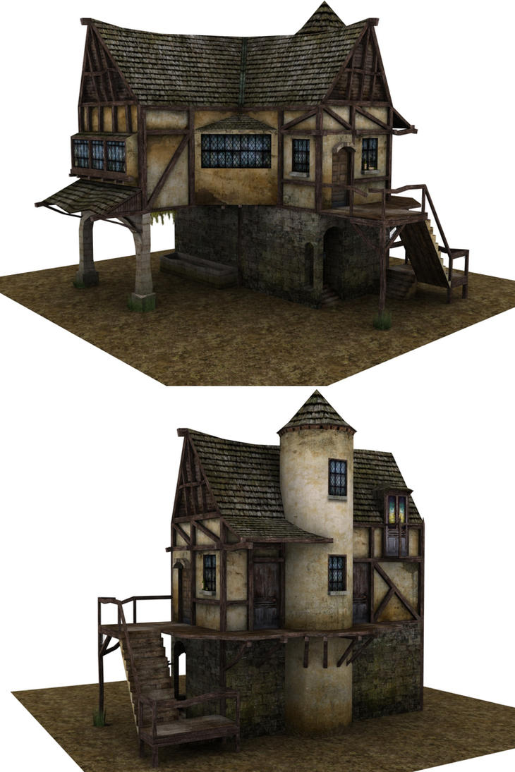 Medieval house by ricolas71 on deviantart for Blueprints for houses already built