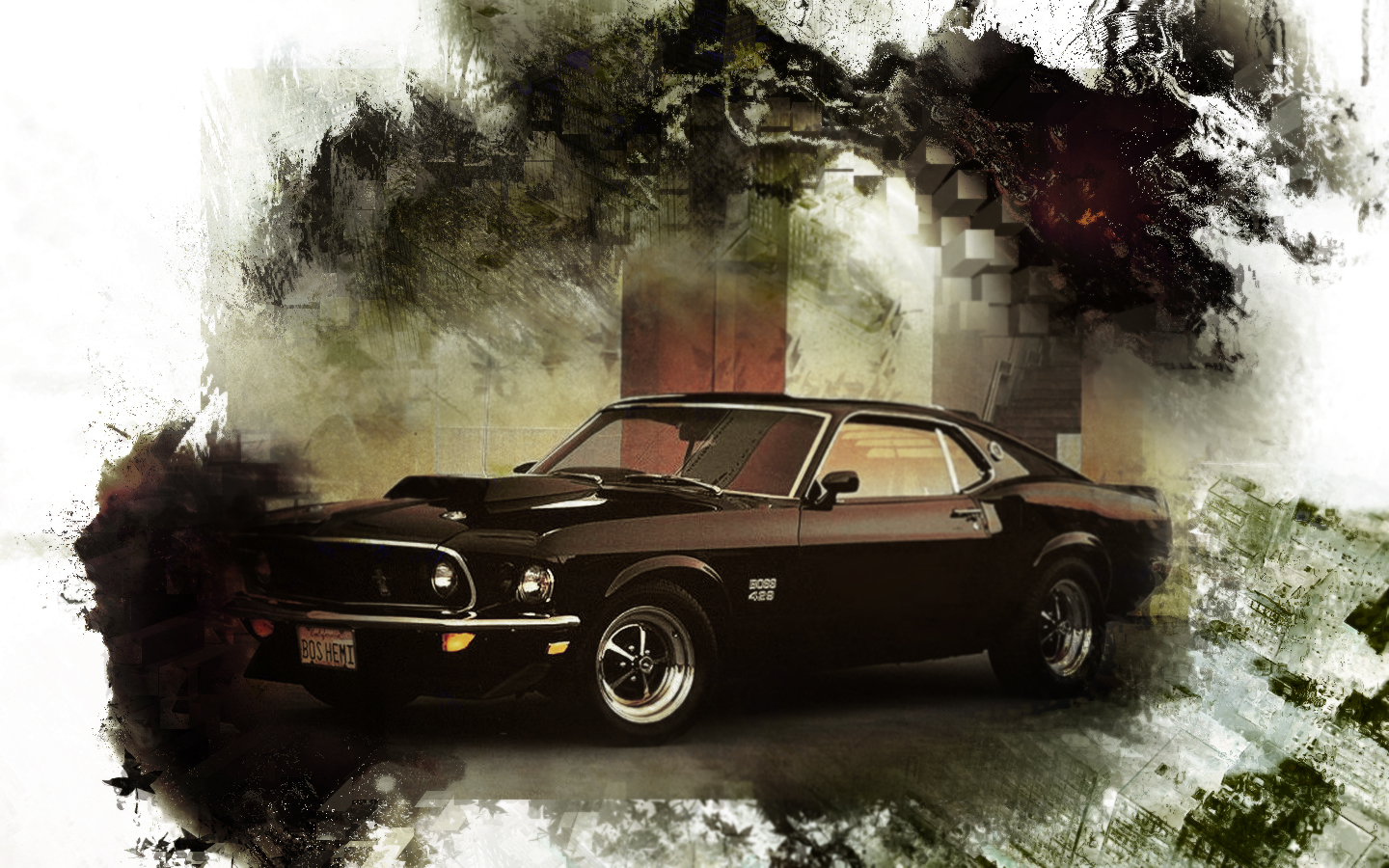 69 mustang boss 429 by tellaro on deviantart. Black Bedroom Furniture Sets. Home Design Ideas