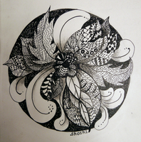 Leaf Zentangle by Shoshiplatypus