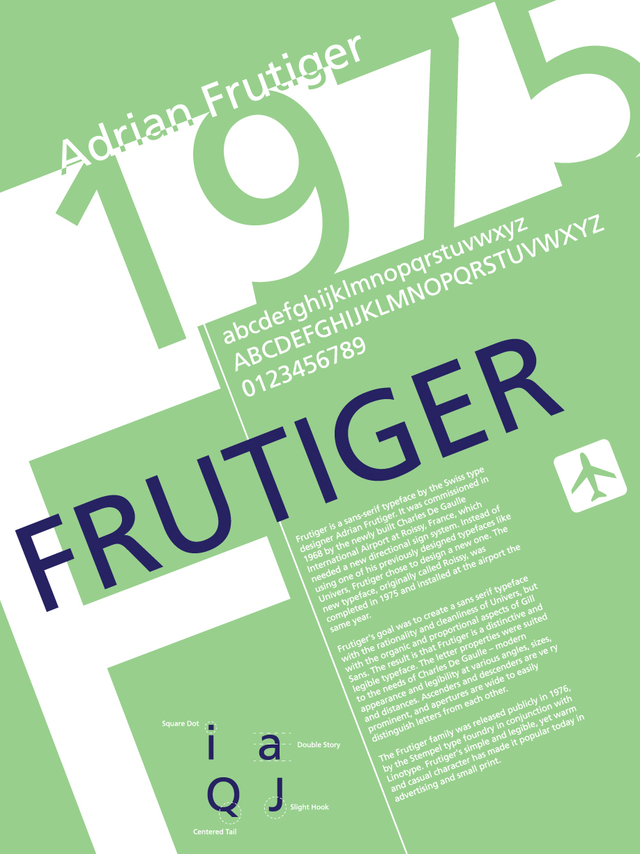 Poster design history -  Font History Posters Frutiger By Lludu