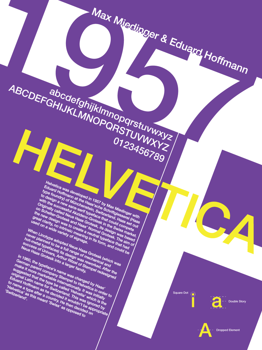 Poster design history -  Font History Posters Helvetica By Lludu