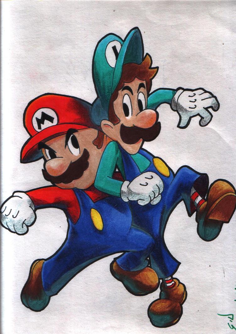 Mario y Luigi by gldzx
