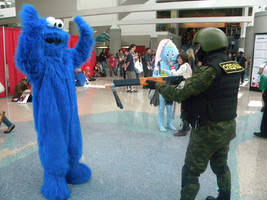 Cookie Monster Arrested by Ghost141