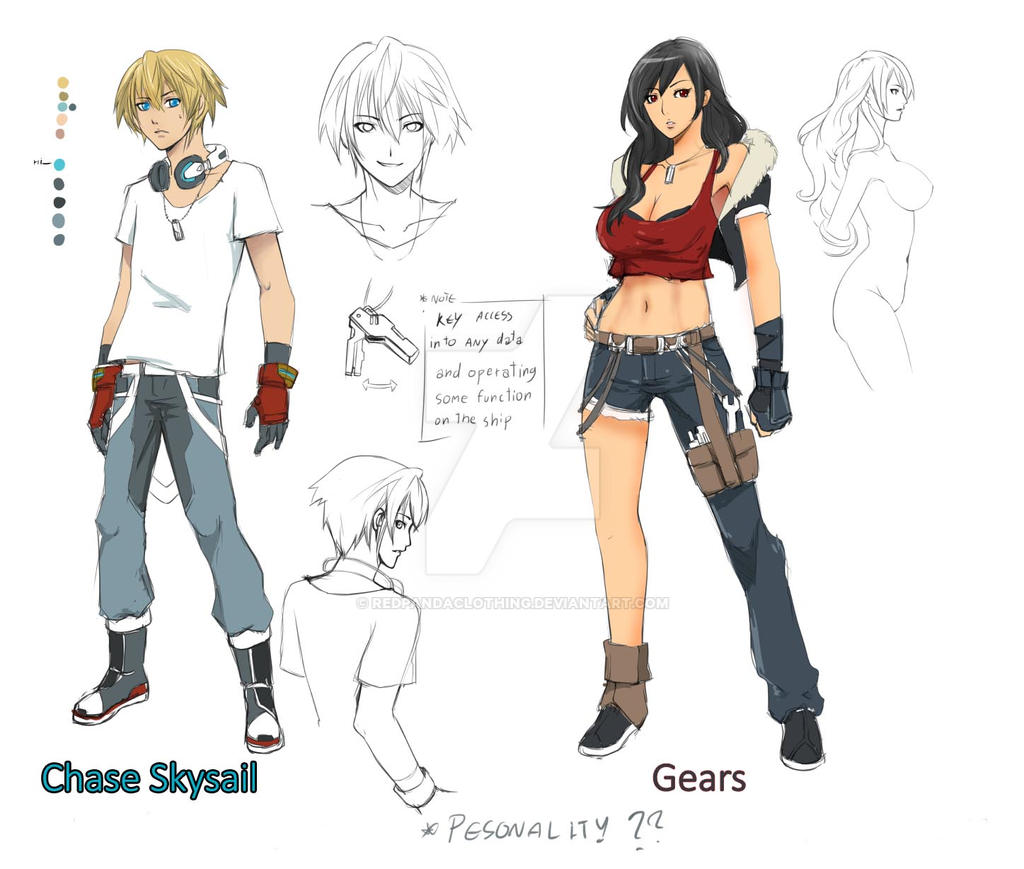 Anime Character Design Deviantart : Character design chase skysai by redpandaclothing on