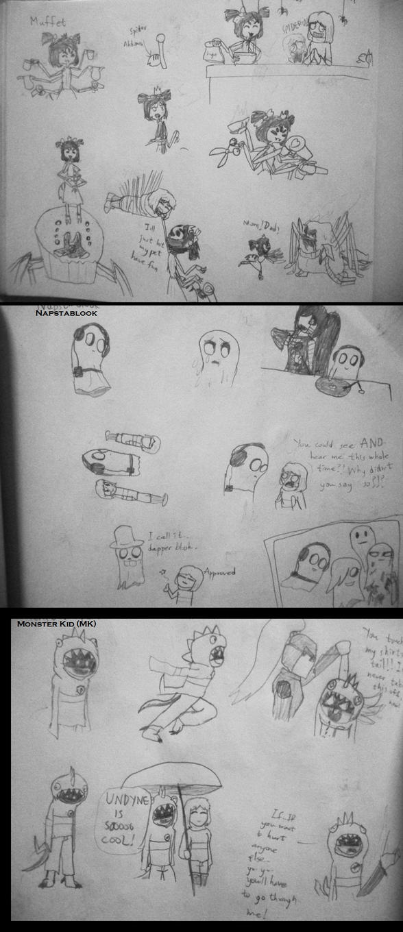 Undertale Retold: Character designs and notes (5) by arafridi2000
