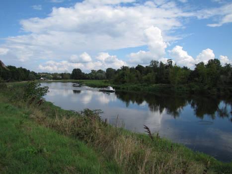 Bug river in Drohiczyn