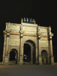 Arc de Triomphe du Carrousel at night
