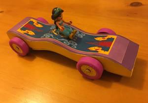Magic Carpet Pinewood Derby Car
