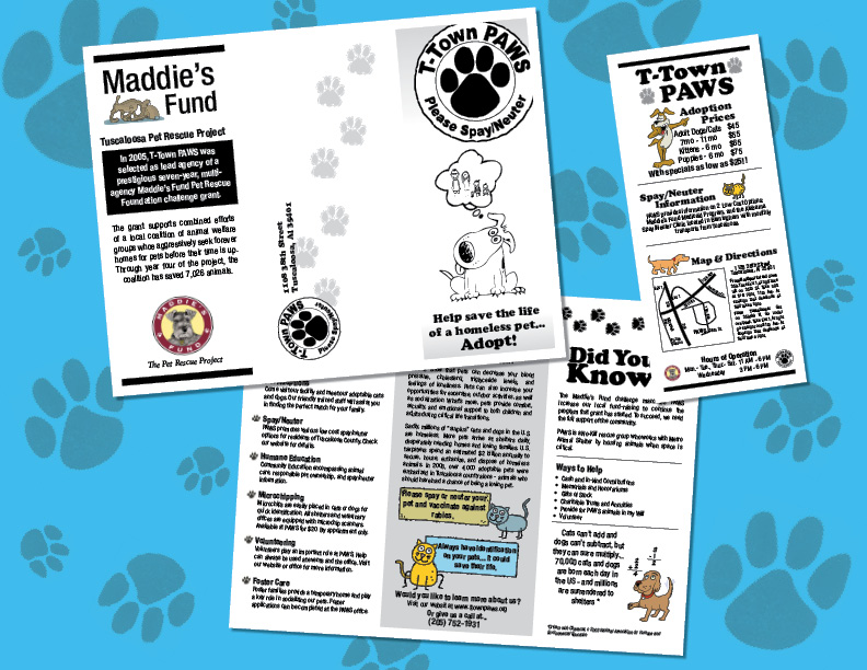 T-Town PAWS Flyer Design by polkadotkat