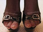 Fishnet Feet and High Heels