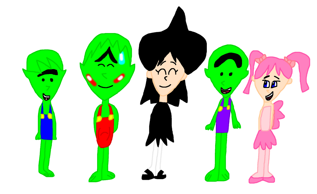 Lucy, Rose, Terence, Timmy, and Tommy.