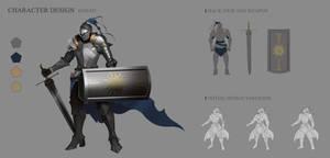 Knight Character Design Sheet