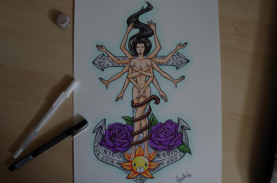 nico robin tattoo design by iskabhell on deviantart. Black Bedroom Furniture Sets. Home Design Ideas