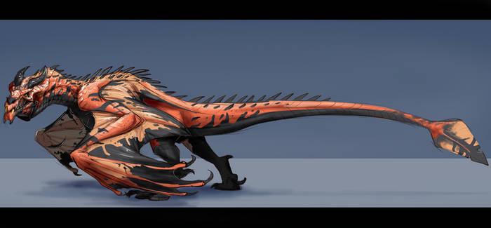 Skyrim Ancient Dragon Sketch