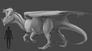 Large Bipedal dragon concept