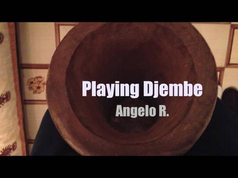 Playing Djembe
