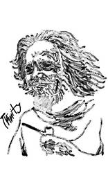 Alan Watts Painting by mrdtron