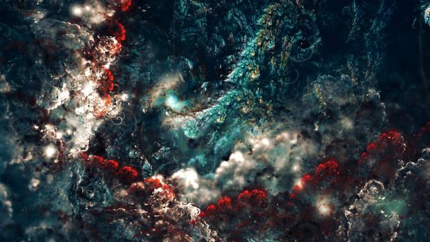 nebula in the sea