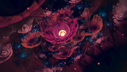 the nebula flowers sing in the morning by Esherymack