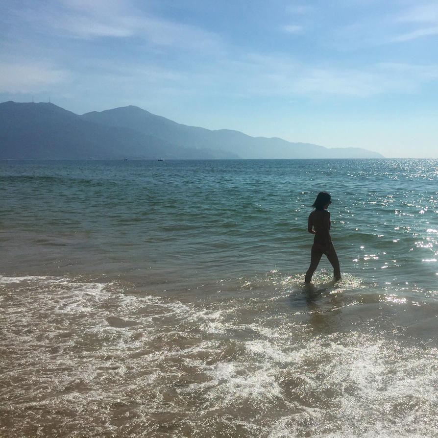 Swimming In Da Nang by sockstealingnome