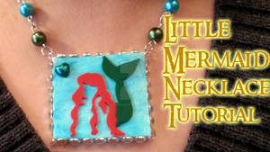 The Little Mermaid Necklace (video tutorial)