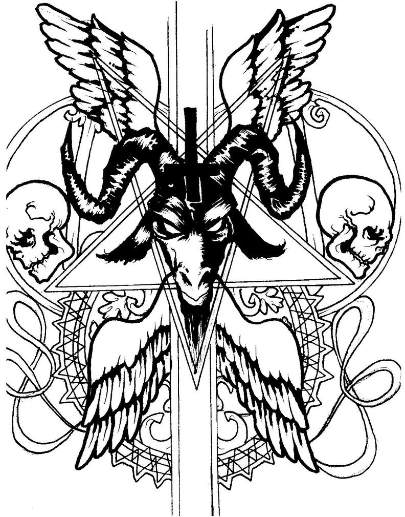 Satanic Goat Pictures Images Photos Tattoo