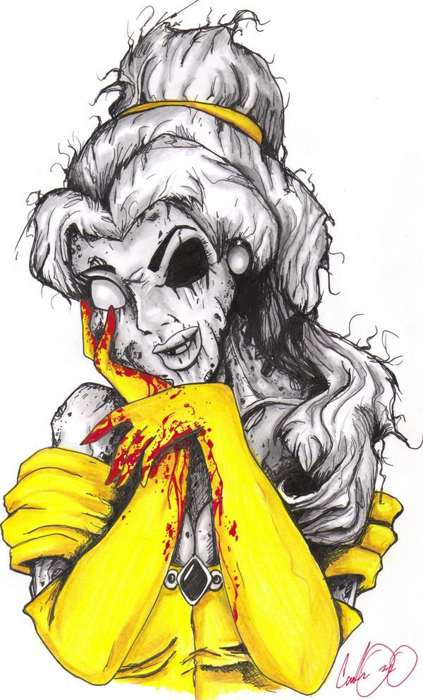 Zombie Disney Characters Drawings T-Shirt Ideas for Iron...