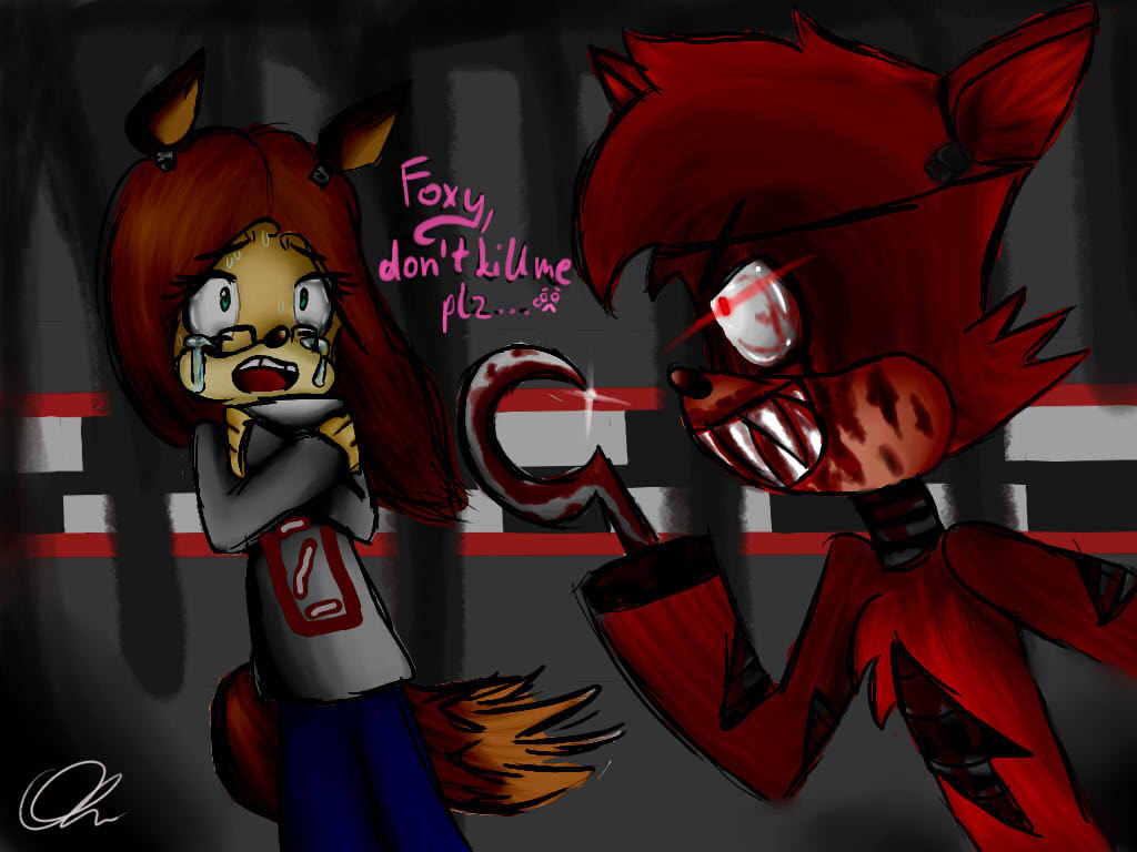Foxy don t kill me plz by cutemarshmalowkitty on deviantart