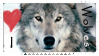 I love wolves stamp by Lyhydian