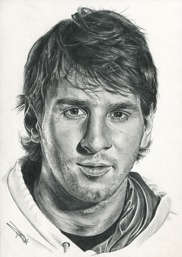 How To Draw Messi Portrait