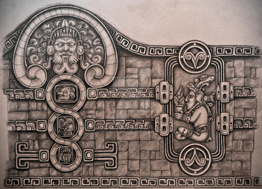 aztec style tattoo design by mantas5tz on deviantart. Black Bedroom Furniture Sets. Home Design Ideas