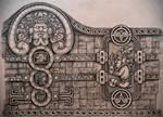 aztec style tattoo design