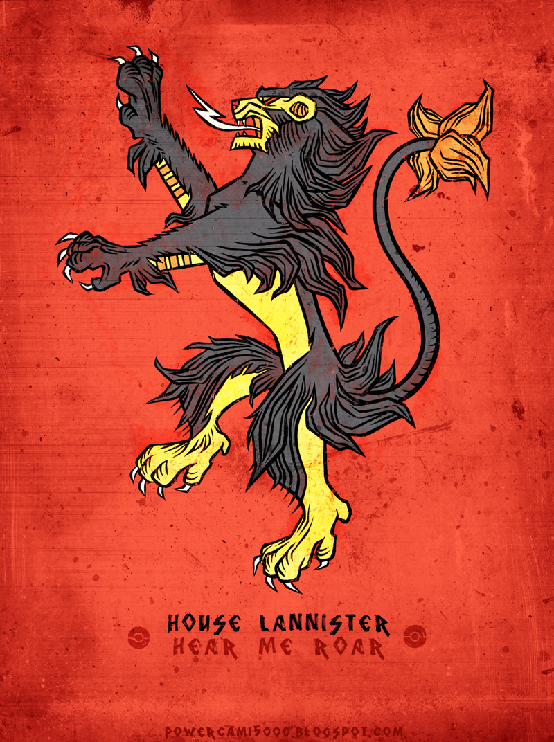 Pokemon / Game of Thrones: Luxray / Lannister by KaiKoa