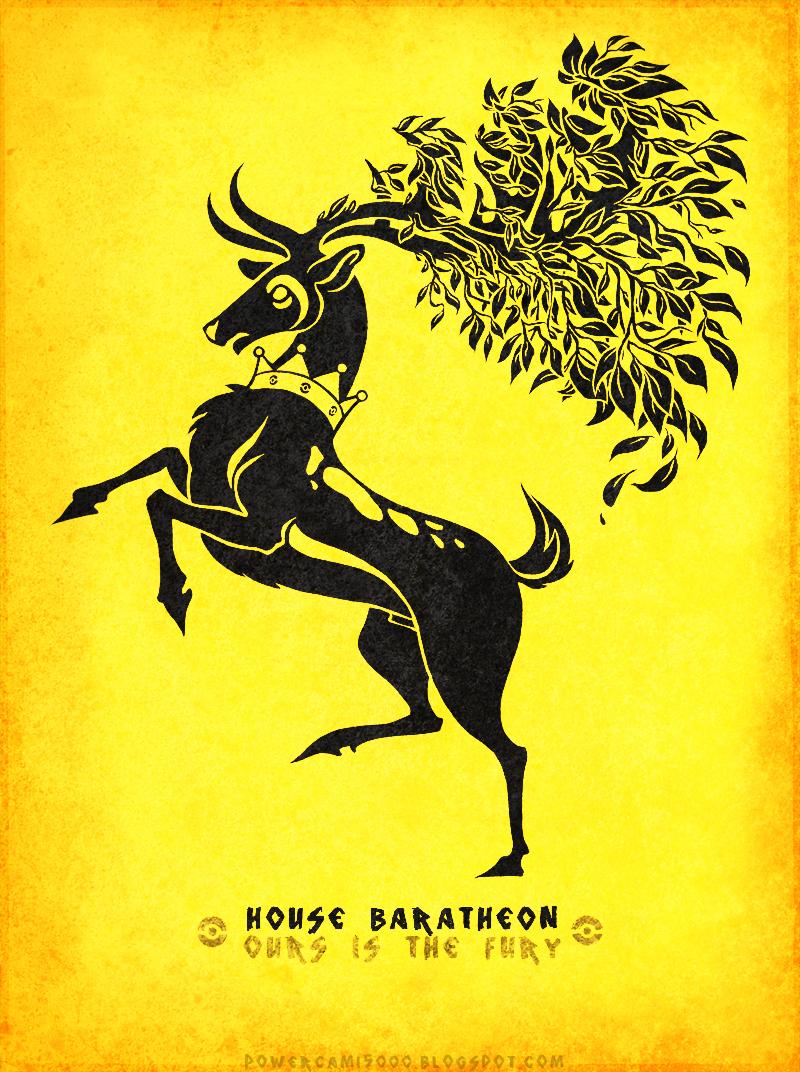 Pokemon / Game of Thrones: Sawsbuck / Baratheon by KaiKoa