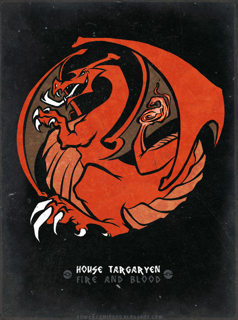 Pokemon / Game of Thrones: Charizard / Targaryen by KaiKoa