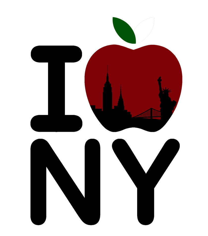 i heart the big apple t shirt design by Apple Core Clip Art Black and White apple core clip art silhouette