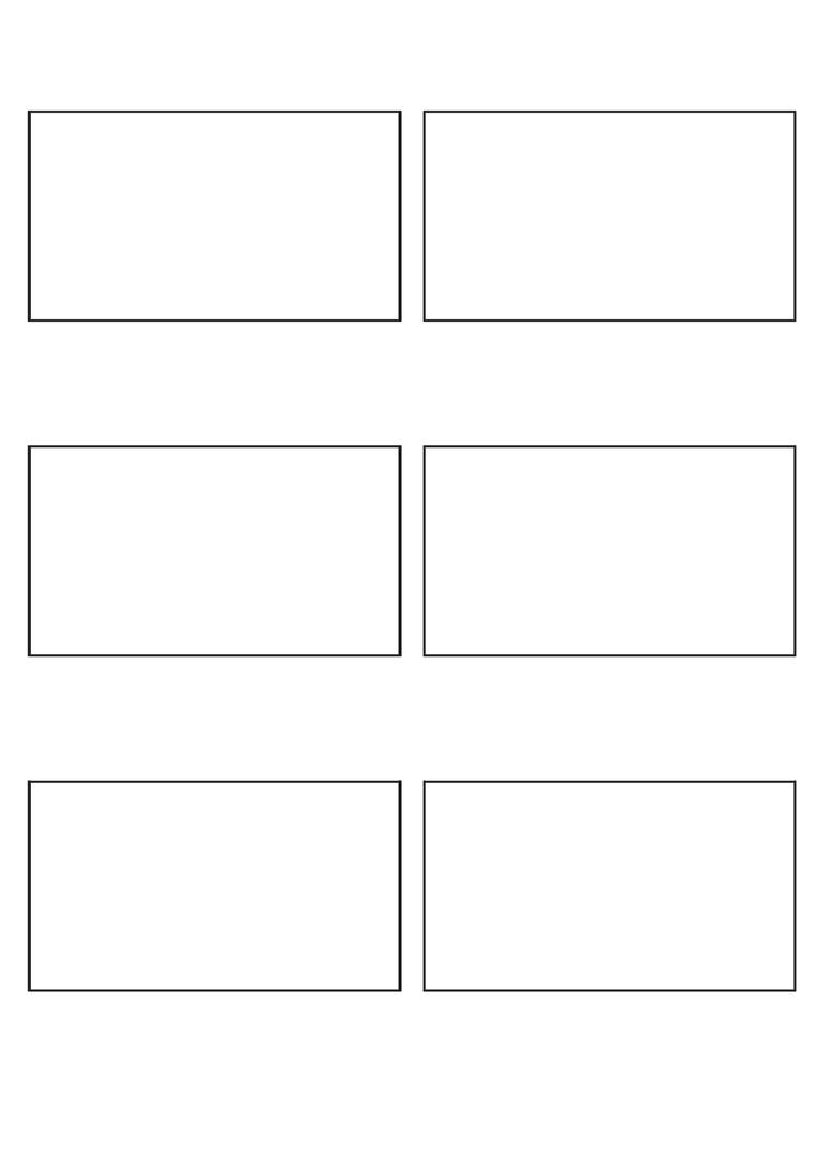 Storyboard Template 16:9 (print) By Gabrielbishop ...