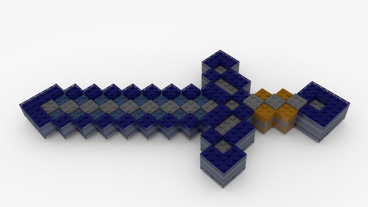 Lego Minecraft Diamond Sword by pyrohmstr