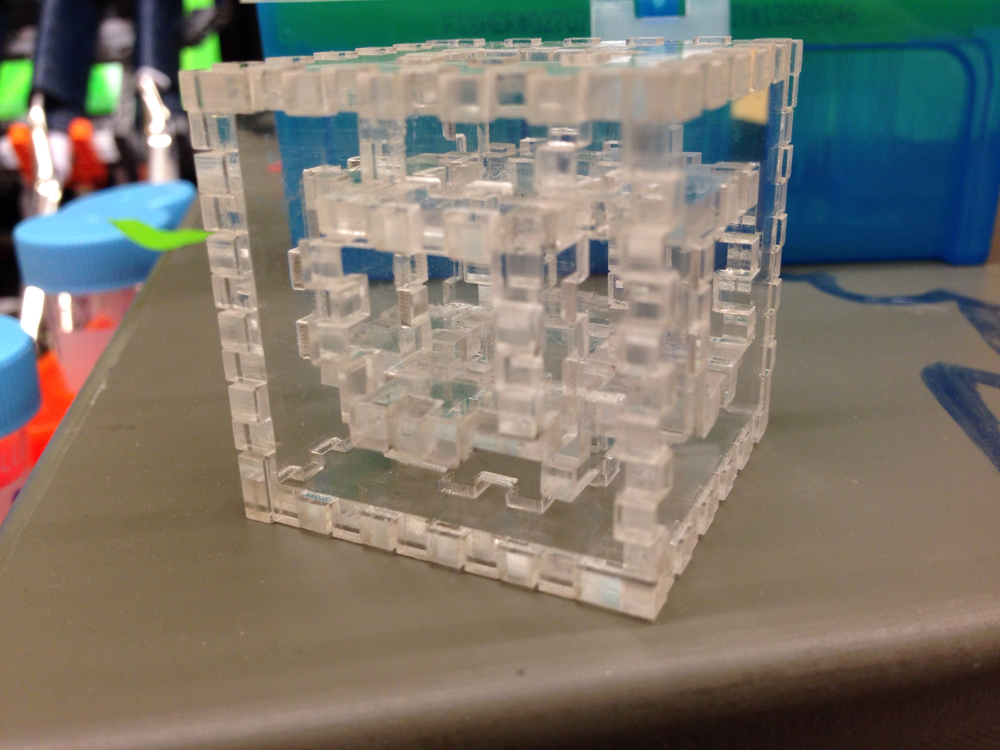 Acrylic Menger Sponge by pyrohmstr